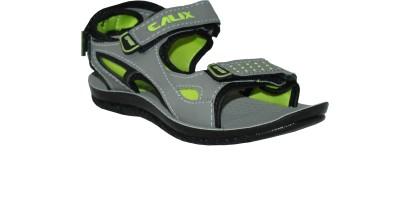 Calix Boys Grey, Green Sandals