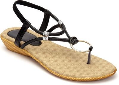 Shibha Footwear Women Black Wedges
