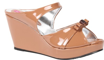 Butterfly Women Brown Wedges