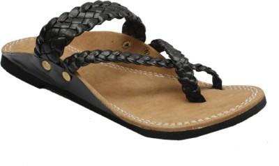Stophere Men Black Sandals