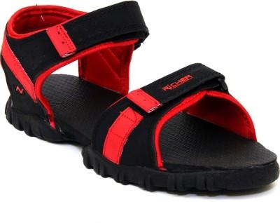 Richer Women Black, Red Sports Sandals
