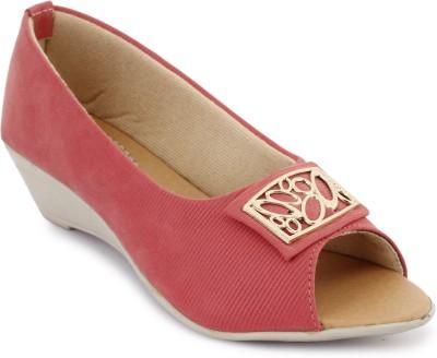 Metrogue Women Pink, White Wedges