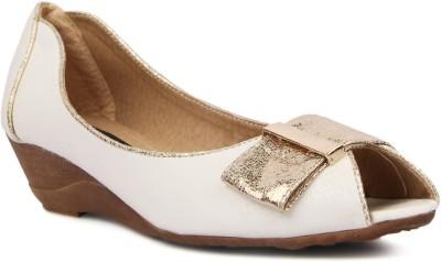 Kz Classics Women White Wedges