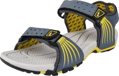 Campus Men Grey, Yellow Sandals