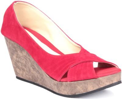 Soft & Sleek 1256 Red Women Red Wedges