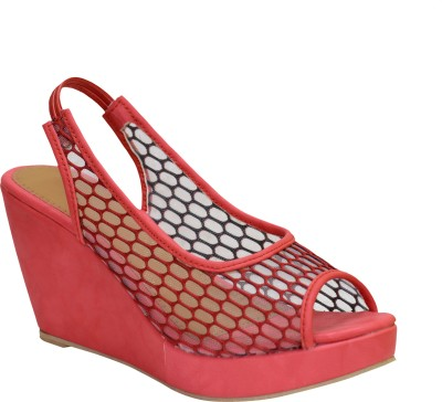Apick Women Red Wedges