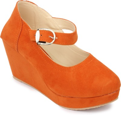 Hanna Women Orange Wedges