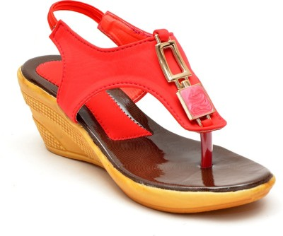 Lee Walk Women Red Wedges