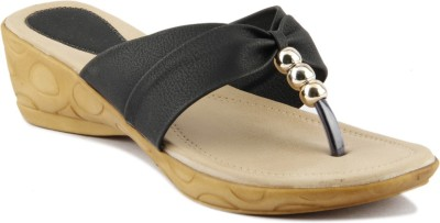 Womens Club Women Black Wedges
