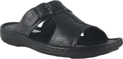 Faith Gents Slip-On Men Black Sandals