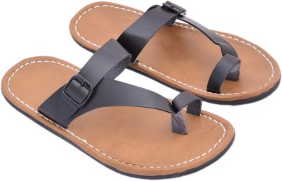 Sapphire Men Brown, Black Sandals