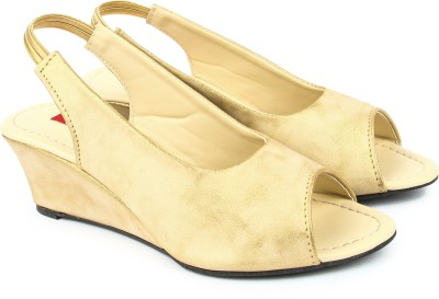 Finesse Women Gold Wedges
