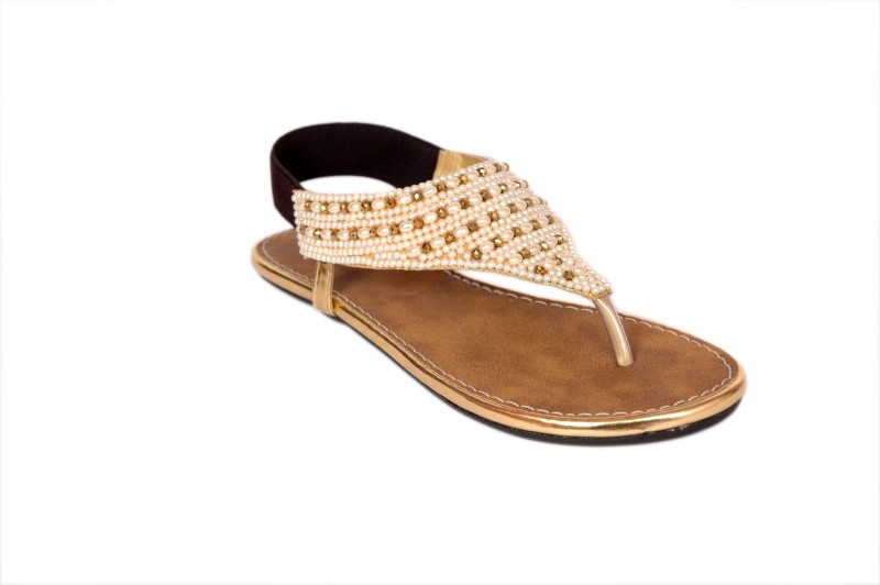 Studio 9 Beads Women Gold Flats...