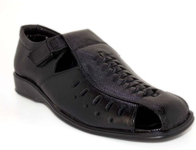 Aleg Men Black Sandals