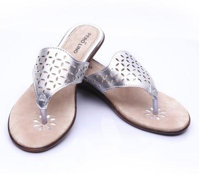 Pero Lino Women Silver Wedges