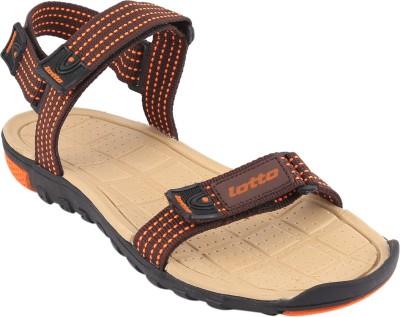 Lotto Men Beige, Orange Sandals