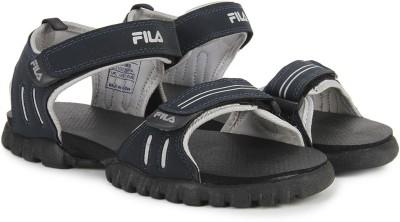 Fila Men Navy, Silver Sandals