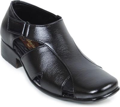 Footrest Men Black Sandals