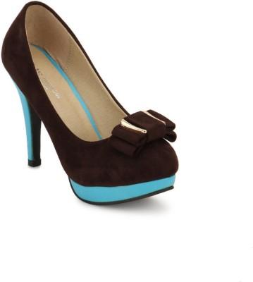 American Swan Women Brown Heels