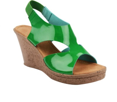 Chicopee Women Green Wedges
