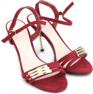 Carlton London Women Maroon Heels at flipkart