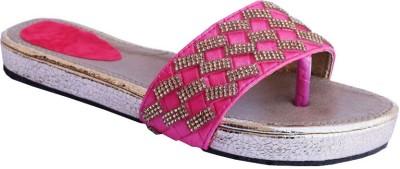 MadeinMyIndia Women Pink, Gold Flats