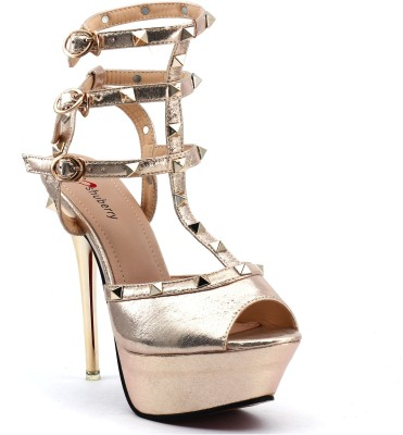 Shuberry Women Gold Heels