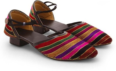 Tradition India Girls Multicolor Wedges
