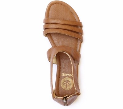 Kanabis Women Tan Flats