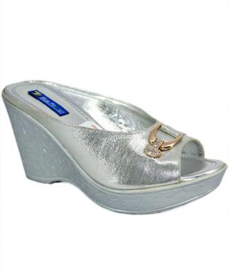 Blue Parrot 0754 Silver Women Silver Wedges