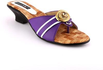 Bootwale Women Purple Heels