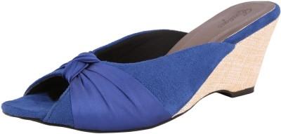 Exotique Women Blue Wedges