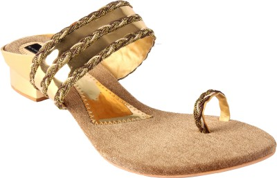 Keco Women Gold Flats