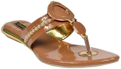 Glossy Women Brown Flats
