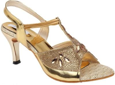 Allinyou Women Gold Heels