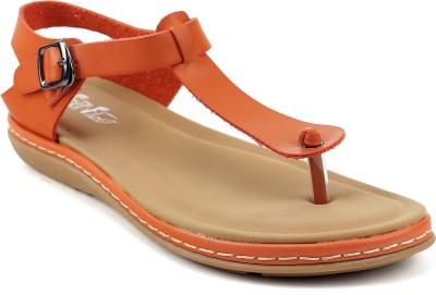 FEET FLOW Women Orange Flats