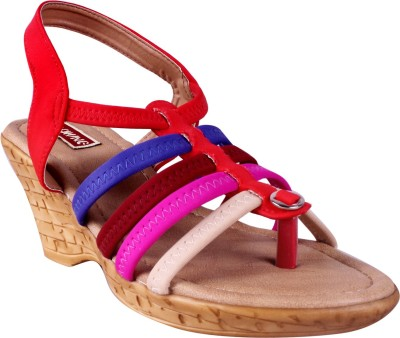 Lee Chung Women Red Wedges