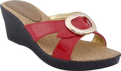 Shoe Bazar Women Red Wedges