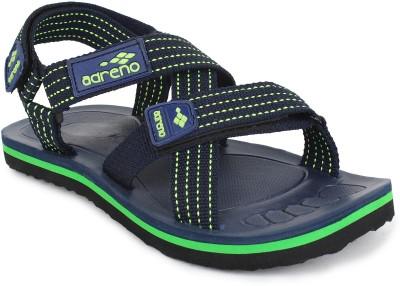 Adreno Men Navy, Green Sandals