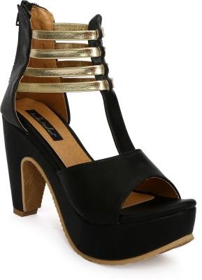 Funku Fashion Women Black, Black Heels