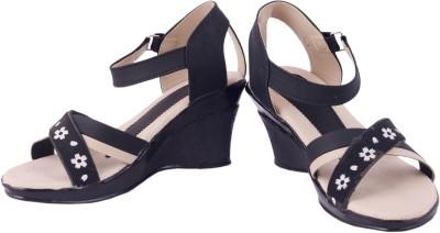 Olive Fashion Women Black Wedges