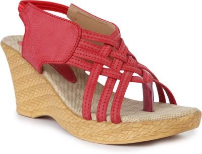 Vilax Women Red Wedges