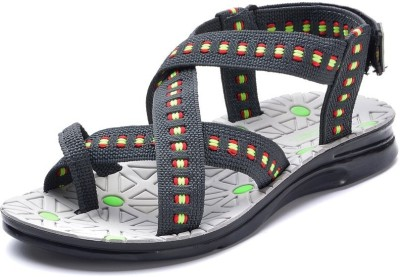 Pu-Rocks Men Grey, Green Sandals