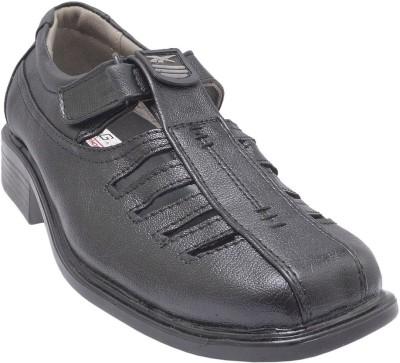 GS Collection Men Black Sandals
