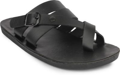 Do Bhai Men Black Sandals