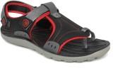 Walkline Men Black Sandals