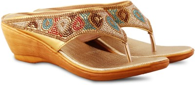 Anand Archies Girls Gold Sandals