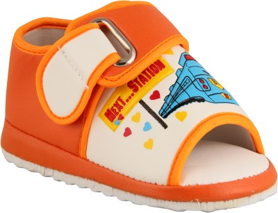 FabSeasons Baby Boys, Baby Girls Orange Sandals