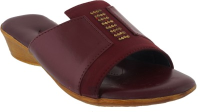 Strano Women Maroon Sandals