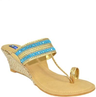 BLUE PARROT Girls Blue Flats